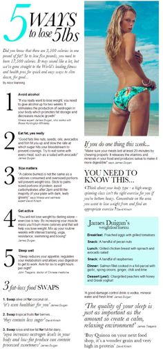 Get Fit | Lose weight | 5 ways to lose 5lbs |  |  tips