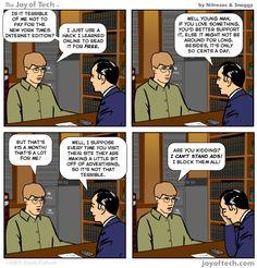 """Joy of Tech: """"Hacking guilt"""" (Comic) by @Nitrozac & @Snaggy #GeekCulture"""