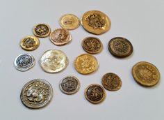 DIY: Make coins from smashed vintage metal buttons! #bellydance #boho