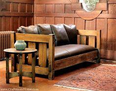 Slat Settle by Caledonia Studio, Arts & Crafts Furniture