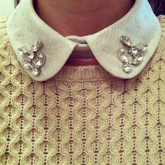 Zara embroided collar