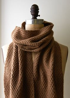 Double Seed Stitch Scarf