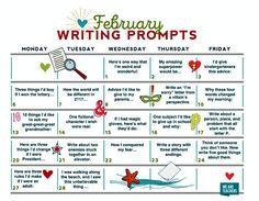 Free Writing Prompts Calendar
