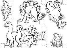 Dinosaur Theme Preschool, Dinosaur Activities, Dinosaur Crafts, Dinosaur Birthday, Craft Activities For Kids, Dino Museum, Dinosaur Silhouette, Dinosaur Coloring, Paper Dolls Printable