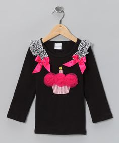 Cupcake applique idea, without puffs and shoulder ribbons