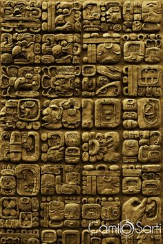 Details of maya glyphs on a stelae from the archaeological site of Mixco Viejo in Guatemala. : Details of maya glyphs on a stelae from the archaeological site of Mixco Viejo in Guatemala. Ancient Aliens, Ancient History, Maya Art, Mayan Glyphs, Mayan Symbols, Occult Symbols, Viking Symbols, Egyptian Symbols, Viking Runes