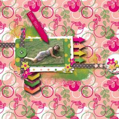 A picture of my daughter.  Kit used: Zesty by SAS Designs.  Template: Template Fun Vol. 4 by SAS Designs.  Both Template and kit are available at http://www.mscraps.com/shop/sas/?treemenu=y