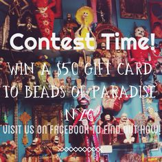 Win a $50 gift card to Beads of Paradise NYC! Visit us on Facebook to find out how.