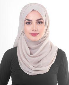 Silver Cloud Poly Chiffon Hijab