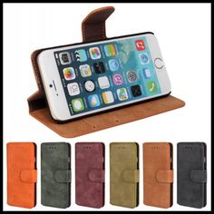 For iPhone 6s Cases 4.7inch Luxury PU Scrub leather Cover for iphone 6 Case Flip Leather Cover with Stand for iPhone 6s Case