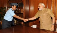 PM with Air Chief Marshal Arup Raha