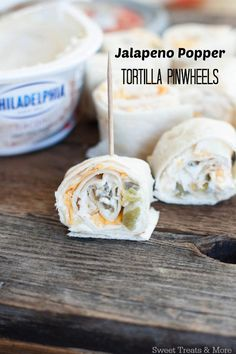 Jalapeño Popper Tortilla Pinwheels- the perfect snack or game day appetizer! On sweettreatsmore.com #ad #OnlyPhiladlephia