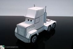 Paper model of a (Disney Pixar's Cars Mack style) truck for a charity organisation (to be revealed later).