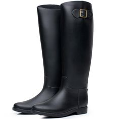 Water Boots With Buckle is a pair of classic rain boots that can fit in well with every kind dress. And Rain Shoes With Buckle is used in both rainy and sunny day. Light Up Trainers, Rain Shoes, Waterproof Boots, Rubber Rain Boots, Your Style, Fashion Shoes, Unique, Fit, Women