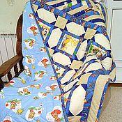 """Для дома и интерьера ручной работы. Ярмарка Мастеров - ручная работа Лоскутное одеяло """"Пиратское"""". Handmade."""