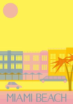 Miami Beach: Miami Beach poster -- art deco >> See the Deals! 20 takes off #airbnb #airbnbcoupon #cuba