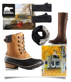 """""""Kick Up the Leaves (Stylishly) With SOREL: CONTEST ENTRY"""" by lobstermomma on Polyvore featuring SOREL and sorelstyle"""