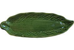 Antique Green Majolica Serving Dish on OneKingsLane.com