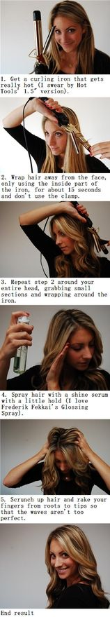 How to: Beach waves...these directions are kinda silly