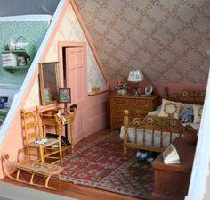 Miniature attic bedroom