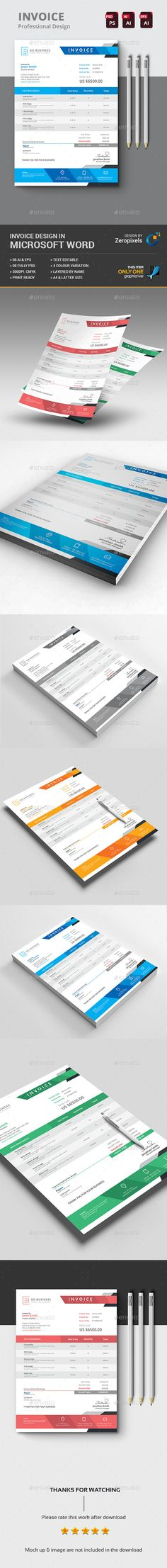 The Invoice Template PSD, Vector EPS, AI. Download here: https://graphicriver.net/item/the-invoice/17427161?ref=ksioks