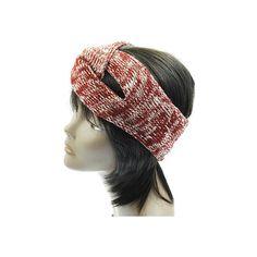 Red & White Twist Headband