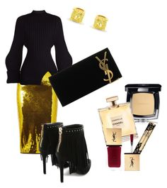 Glam evening by paulina-dubnicka on Polyvore featuring polyvore, fashion, style, Jacquemus, Tom Ford, Pierre Balmain, Yves Saint Laurent, Chanel, Helena Rubenstein and clothing