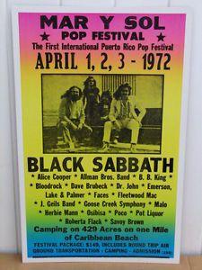 Vintage Concert Posters | Vintage Black Sabbath Concert Poster 1972 Tour Festival | eBay