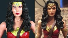 Wonder Woman DC Multiverse Custom Repaint Before and After