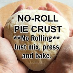 One Crust Pie Recipe, Apple Pie Recipe Easy, Easy Pie Recipes, Pie Crust Recipes, Apple Pie Recipes, No Roll Pie Crust Recipe With Butter, Quick Easy Pie Crust Recipe, Cobbler Recipe, Yummy Recipes