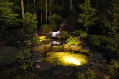 Illuminating pond glow