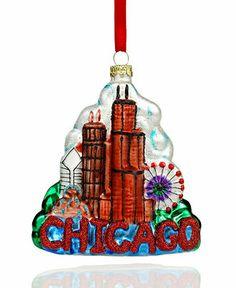 holiday lane christmas ornament chicago skyline all christmas ornaments holiday lane macys - Chicago Christmas Ornament