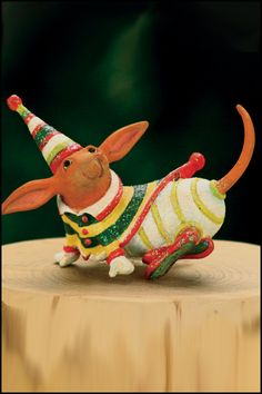 Krinkles by Patience Brewster - Dachshund Mini Ornament (Retired)