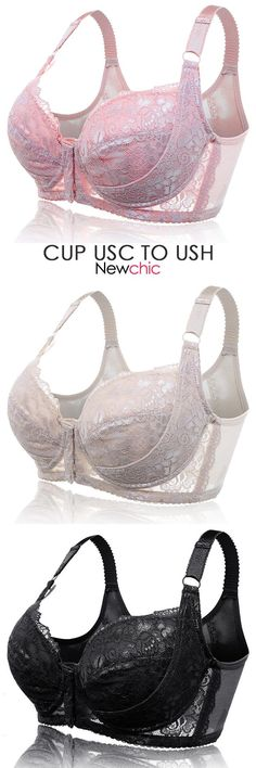 H Cup Front Closure Gather Embroidery Plus Size Push Up Thin Bra By Newchic - Pin Coffee Sexy Outfits, Cool Outfits, Fashion Outfits, Womens Fashion, Bustiers, Balconette, Mode Steampunk, Most Comfortable Bra, Trendy Hoodies
