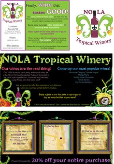 NOLA Tropical Winery Branding