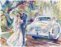 Paper Anniversary Wedding Watercolor by SimplyArtByKristin on Etsy