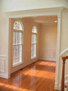 Love The Door Casings And Chair Rail But I Prefer Rectangular