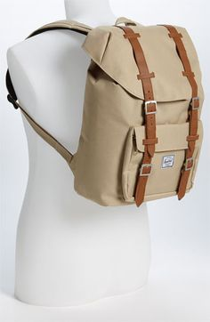 Women's Herschel Supply Co. 'Little America - Medium' Backpack - Grey Canvas Backpack, Backpack Bags, Fashion Backpack, Herschel Backpack, Herschel Supply Co, Play Dress, Travel Essentials, Playing Dress Up, Hand Bags