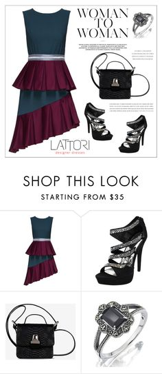 """LATTORI dress"" by water-polo ❤ liked on Polyvore featuring Lattori, MM6 Maison Margiela, polyvoreeditorial and lattori"