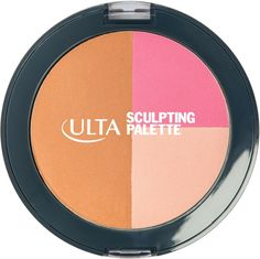 An easy powder contour! All in one blush, bronzer and highlighter for sculpting and enhancing your best features. Each ULTA Sculpting palette includes a luminizer for highlighting the cheekbones, blush to make the cheeks pop and a satin bronzer to contour and define..