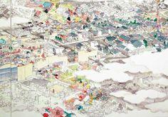 Mizuma Art Gallery 11月2日(水)〜12月17日(土) 参考図版『ショッピングモール(部分)』2015年 ©YAMAGUCHI Akira, Courtesy Mizuma Art Gallery 大和絵風などと評される画風で注目を集めている画家・山口晃の新作個展。 全国各地での展覧会はもちろん、2013年には画家のユニークな視点から日本美術を読み解いた『ヘンな日本美術史』で小林秀雄賞を受賞、本年は山梨県立富士山世界遺産センターのシンボル絵画として5.4×7.7メートルもの壁画を制作するなど、目覚ましい活躍を続けている。 本来は西洋絵画の素材である油絵具を使いながら、日本の伝統的絵画のスタイルを継承した山口の作品は、日本と西洋、古典と現代が同次元に存在する、時空を超越した世界を生み出していく。本展では、室町(から明治以前の)絵画と20世紀以降の現代美術の流れに共振...
