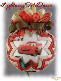 Disney Pixar Cars Lightning McQueen Childrens by missjoysornaments, $18.00