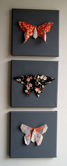 Tableau papillons origami Brooch, Random, Crates, Origami Butterfly, Herb Box, Papillons, Creative Crafts, Projects, Child
