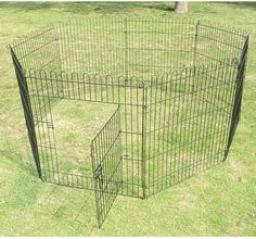 $39.99 Heavy Duty 8 Panel Pet Playpen Dog Cat Exercise Pen Fence Yard Kennel Portable | eBay