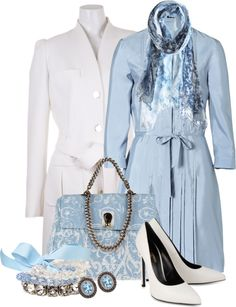 """Devil with a Blue Dress & a Really Cute Bag!"" by stylesbyjoey ❤ liked on Polyvore"