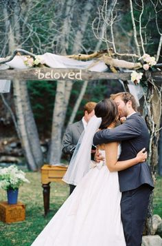 This wedding is home grown and creative without the vintage flavor taking over.