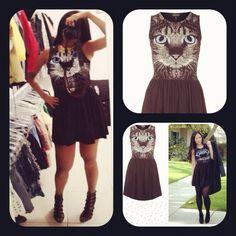 Topshop cat dress