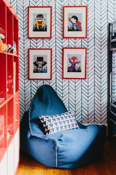 Love the baby superheroes Van's Room - transitional - Kids - Colordrunk Designs