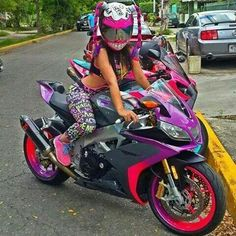 Custom purple aprilia. What a smile