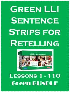 This Green LLI BUNDLE is for Lessons 1-110 Levels A-J.Buy this BUNDLE and SAVE $3.00! 110 Lessons for $8.00I created these story retell strips to go along with my Leveled Literacy Intervention (LLI) lessons in the Green kit. This pack currently starts with Lesson 1 and goes to Lesson 110 Green (F&P levels A-J).